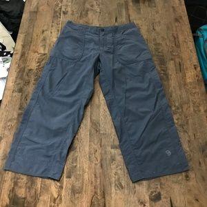 Mountain Hardware Blue Capri Cargo Pants 8